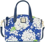 Peacock Blue Hydrangea Ruby Satchel Shoulder Bag Dooney Bourke NEW!