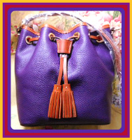 Brand New! Aubergine Kendall Crossbody Drawstring Bag Dooney Bourke AWL