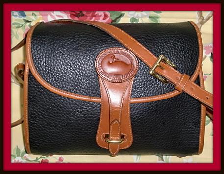 SOLD!!! Exceptional Vintage Dooney Colossal Black Essex Shoulder Bag