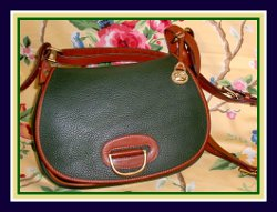 SOLD!!! Exclusive Vintage Dooney & Bourke AWL Fir Green Horseshoe Bag