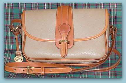 Sold! Equestrian Vintage Dooney Taupe & Tan Shoulder Bag
