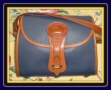 Moonlit Slate Blue Essex Vintage Dooney Shoulderbag