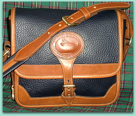 SOLD!  Authentique Vintage Surrey Bag in Navy Blue by Dooney Bourke