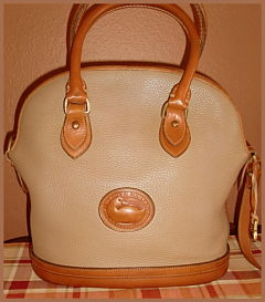 Dark Toasted Oatmeal & Tan Norfolk Vintage Dooney Bag