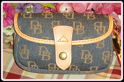 Breezy New Dooney & Bourke Blue Flap Wristlet