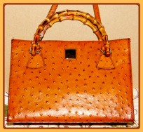 Decadent Gingered Amber Leather Dooney Ostrich Satchel Shoulder Bag