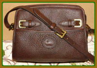 Delectable Cinnamon Gingerbread Dooney Zip Top Buckle Shoulder Bag