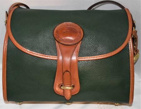 Caribbean Green Dooney Large Essex Shoulder Bag