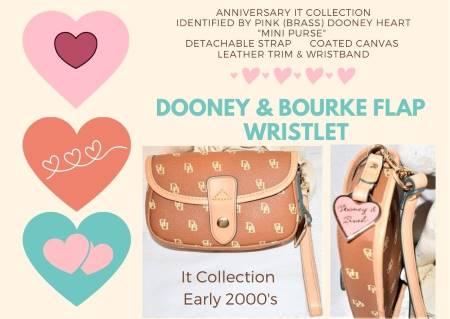 Creamy Butterscotch Mousse Dooney It Collection Flap Wristlet