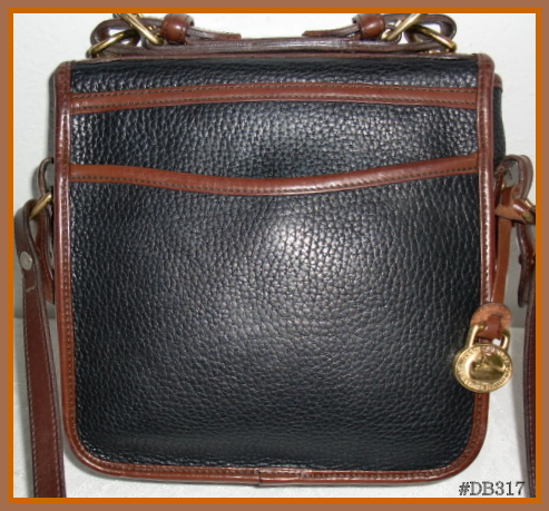 SOLD!!! Black & Cedar Square Carrier Bag Dooney and Bourke AWL