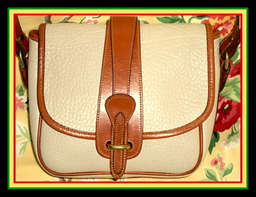 Stunning Bone Equestrian Binocular Bag Dooney Purse