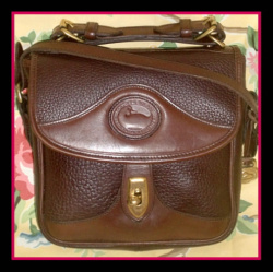 Wow! Dark Chocolate Square Carrier by Dooney and Bourke AWL