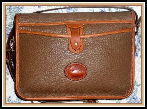 Pristine Dark Taupe Large Loden Dooney Bag