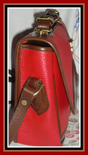 Like New Red Dooney & Bourke All Weather Leather Shoulder Bag
