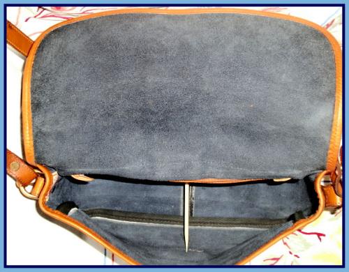 SOLD! Neat Navy Blue Large Equestrian Bag Dooney & Bourke