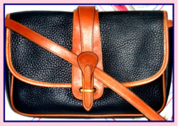 SOLD! Neat Navy Blue Large Equestrian Bag Dooney & Bourke