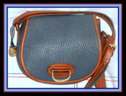 Must See Air Force Blue Vintage Horseshoe Bag Dooney & Bourke AWL