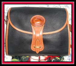 SOLD! Snappy Rare Large Black Essex Dooney Bourke AWL!