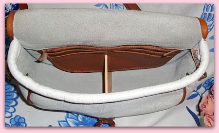 Elegant White Loden Vintage Dooney Bourke Bag