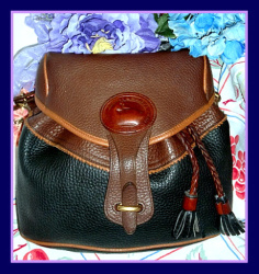 Chic Tri-Color Teton Drawstring Saddle Bag Dooney & Bourke AWL