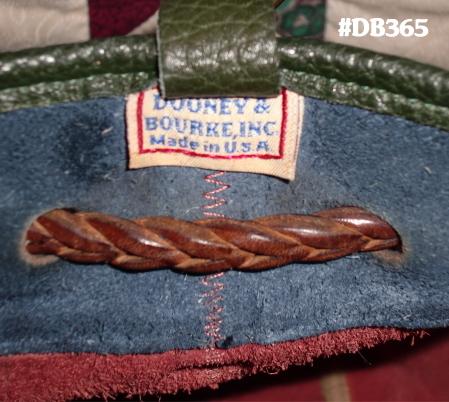 SOLD!!! Delightful Navy Ivy & Rouge Teton Drawstring Vintage Dooney Bourke