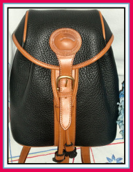 Elite Black & Saddle Tan Dooney & Bourke AWL Back Pack