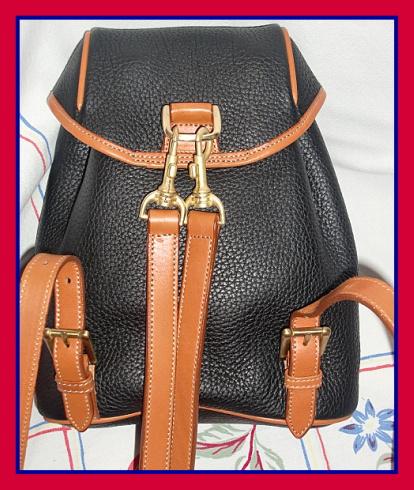 Elite Black & Saddle Tan Dooney & Bourke AWL Back Pack