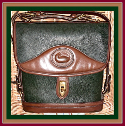 SOLD! Chocolate & Ivy Green Large Carrier Dooney Bourke Bag