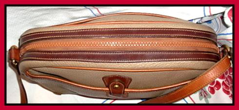 SOLD!!! Rare Zipper Top Taupe Vintage Dooney Bourke Shoulder Bag