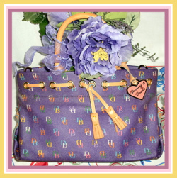 Dooney & Bourke Tassel Tote in Purple Classic D & B