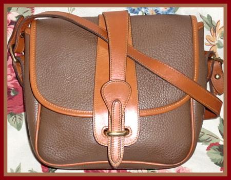 Very Rare Mushroom Equestrian Bag Vintage Dooney Bourke AWL