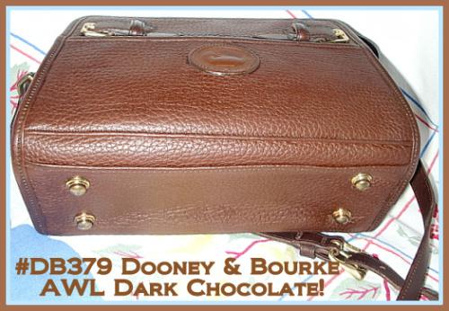 SOLD-Yummy Dark Chocolate Buckle Shoulder Bag Dooney Bourke AWL