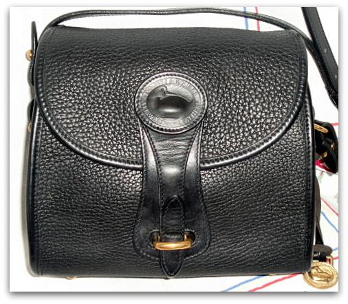 SOLD!!! Snappy Black Licorice Essex Shoulder Bag Dooney Bourke AWL