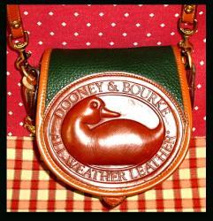 SOLD Fabulous Ivy Green Pristine Big Duck Vintage Dooney Bag!