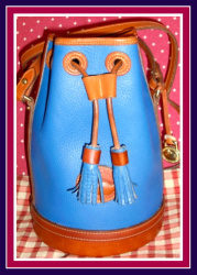 SOLD! True French Blue Hand-Fitted Drawstring Vintage Dooney Bourke Bag