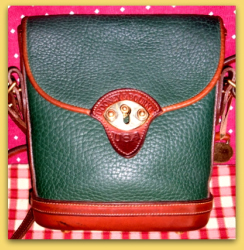 SOLD! Rich Ivy Green Mini Spectator Vintage Dooney Bourke Bag