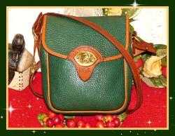 Fab Fir Green Cavalry Scout Bag Vintage Dooney Bourke AWL