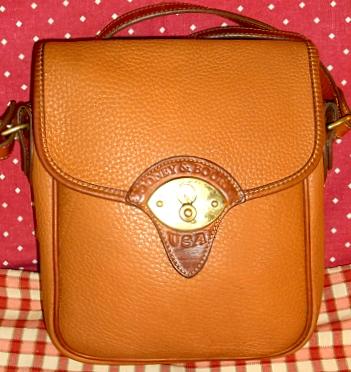 Spicy Cavalry Scout Vintage Dooney Bourke Cross Body Shoulder Bag