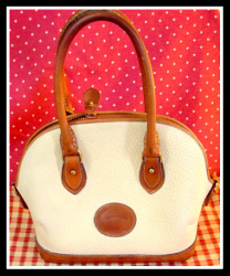 SOLD!!! Bone & Tan Norfolk Satchel Vintage Dooney Bourke AWL
