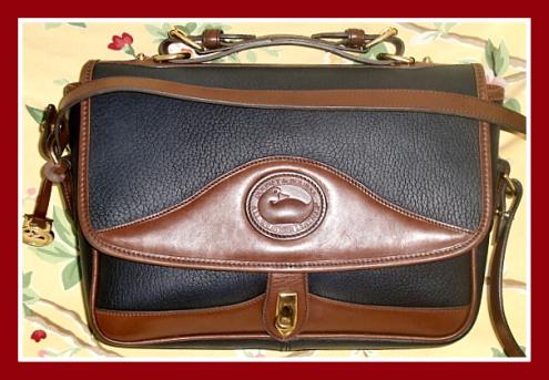 Large Black Carrier Bag Vintage Dooney Bourke AWL