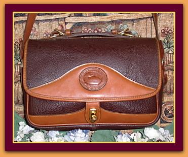 Rich Dark Chocolate Brown Large Carrier Vintage Dooney Bourke AWL Bag