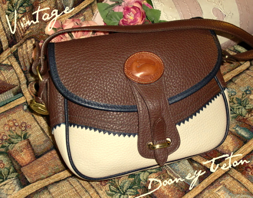 Delicious Tropical Teton Shoulder Bag AWL Vintage Dooney Bourke