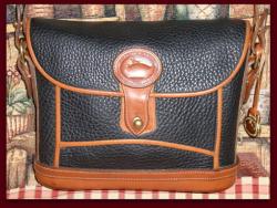 SOLD! Rare Black Dover Case Vintage Dooney Bourke AWL