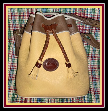 SOLD! Dazzling Palamino Vintage Dooney Teton Drawstring Bag