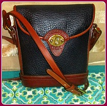 Navy Blue Vintage Dooney Spectator Cross Body Shoulder Bag