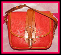 Saddle Up! Radiant Red Vintage Dooney Equestrian Bag