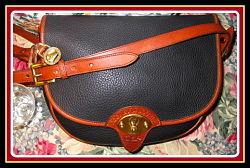 Big Trail Licorice Black Vintage Dooney Cavalry Trooper Bag AWL