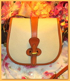 Cute & Creamy Ivory Vintage Dooney Marble Over Under Bag