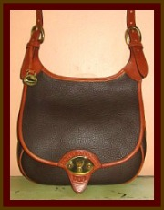 SOLD! Vintage Dooney & Bourke Nutmeg Brown Cavalry Saddle Bag
