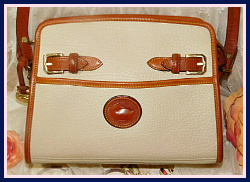 Whispers of Lace Zip Top Buckle Vintage Dooney Bourke Shoulder Bag AWL